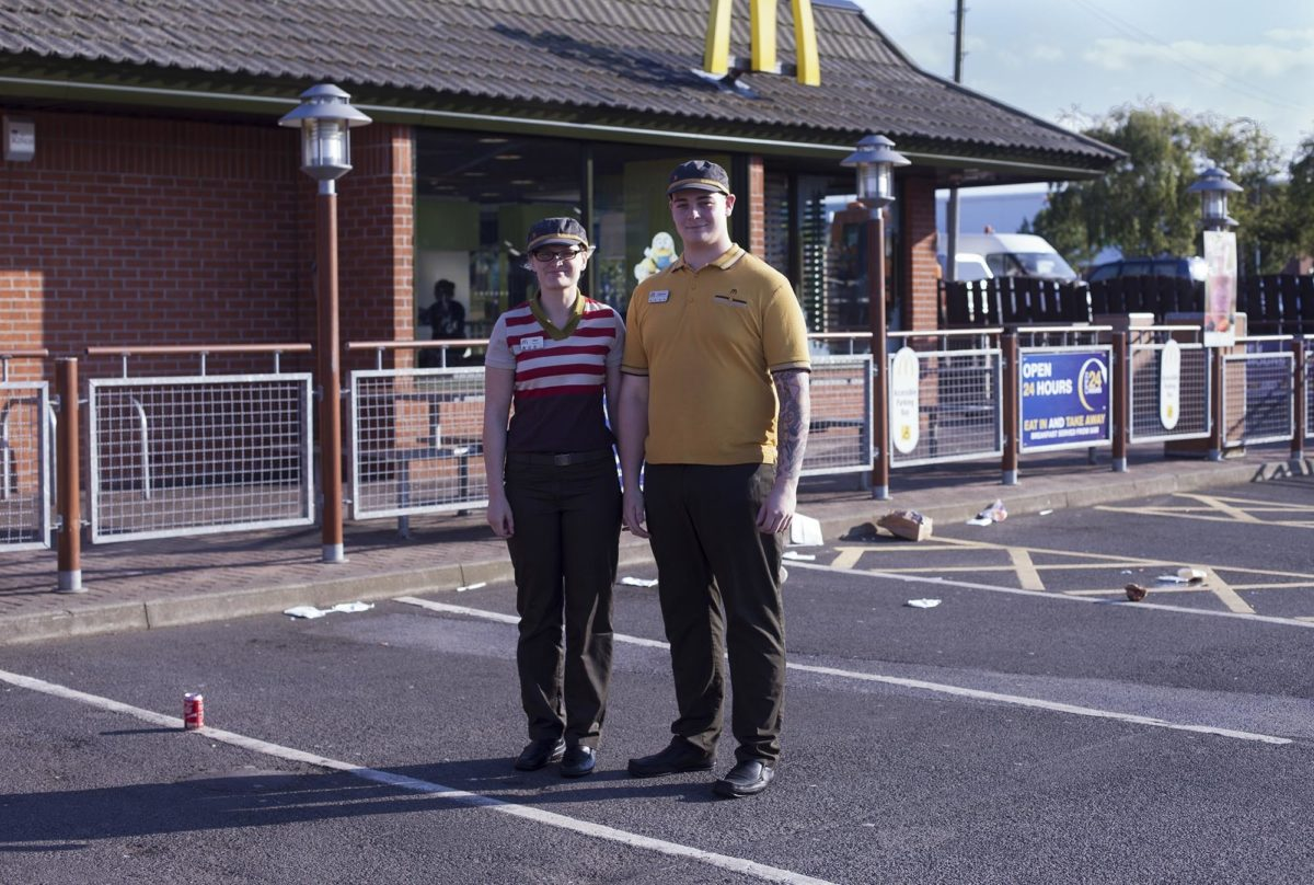 McDonald's, Ashington, by Joe Sanders, 2015. © Ashington District Star / Joe Sanders.